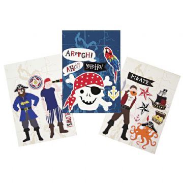 Pirate Wall Stickers by Meri Meri - pack of 18